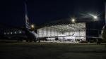 LEDs der Deutschen Lichtmiete beleuchten Flugzeughangar