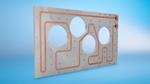 Bild 2. Die Kühlplatten sind Sonderanfertigungen und vollständig an die Getriebekontur angepasst. Sie sind 510 mm breit, 870 mm lang und 25 mm stark.