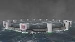 Unterwasserfirschfarm aus der Totalen