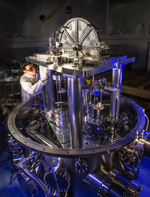 The new kilogram was also defined by the experiment with the watt-weigher.