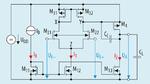 Schaltplan des mit der EDP-Methode automatisch dimensionierbaren Miller-Operationsverstärkers.