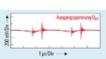Im gleichen Betriebszustand lassen sich am Ausgang UA1 (+5,31 V an RL = 25 Ω, entsprechend IL = 200 mA) Störspannungen mit einer maximalen Amplitude von über 200 mV messen
