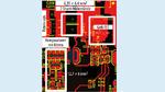 Beispiel für ein Leiterplatten-Layout einer diskreten OCP-Implementierung mit Shunt-Widerständen