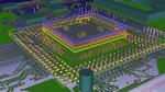 Bild 3b. Die Entwicklungsumgebung CR-8000 von Zuken ermöglicht eine 3D-Ansicht mit IC, Gehäuse und Leiterplatte für ein 3D-Co-Design.