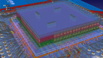 Bild 6. Komplexe 2,5D- und 3D-Entwürfe mit gestapelten Chips und Siliziumdurchkontaktierungen (Through Silicon Via, TSV) können mit der 3D-Co-Design-Umgebung relativ einfach verwaltet werden.