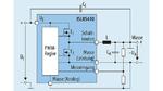 Schaltung (vereinfacht) mit dem ISL85410 für einen Aufwärts-/Abwärtswandler, der eine negative Ausgangsspannung aus einer positiven Eingangsspannung generiert