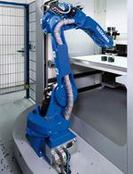 Roboter auf einem stabilen Sockel