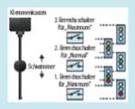 Bild 5. Drei Schalter über- wachen fünf Zustände bei einer Füllstandsmessung.