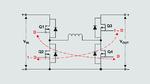 Aufwärts-Abwärts-Gleichspannungswandler mit vier Schaltern.