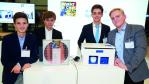Andreas Kisters, Justus Lau, Tom Marter und Fabian Weinand mit ihrem Projekt 'MediController'