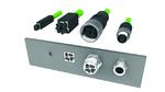 Das Vierkammersystem des neuen Steckverbinderkonzepts ermöglichen eine applikationsunabhängige Verkabelung.