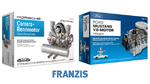 2. Preis: Zwei hochwertige Motorenbausätze mit zusammen mehr als 500 Bauteilen im Wert von 408 Euro gestiftet vom Franzis-Verlag