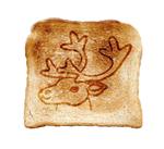 Toast mit Rentierlogo