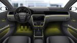 Beispiel für eine personalisierbare Ambientebeleuchtung im Fahrzeug