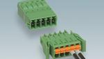 """Bild 3. Leiterplattensteckverbinder mit werkzeuglosem und zeitsparendem Push-in- Anschluss: Die definierte Kontaktkraft sorgt für die langzeitstabile Kontaktierung der """"wire to wire""""-Verbindung."""