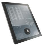 Direkt auf der Touchscreen-Oberfläche platziert