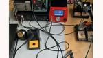 Funktionstest der RS Lötstation mit einer Löttemperatur von 350°C.