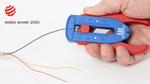 Präzisions-Abisolierer für sehr feine Leitungen und Drähte