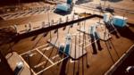 Mega-Ladepark mit Ultraschnellladesäulen in Betrieb