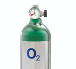 Sauerstoffflasche mit analogem Zeigermanometer