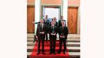 Die Gewinner des Applied Photonics Awards 2019 zusammen mit Andreas Tünnermann (Institutsleiter Fraunhofer IOF)