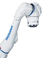 Durch die sechs integrierten Momentensensoren und die Überwachung und Auswertung externer Kräfte ist der Roboterarm direkt mit der Hand zu führen und zu programmieren (Direct Teach).