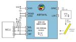 Optisches Sensormodul AS7341L mit Weißlicht- und NIR-Quelle, 6 ADCs und I²C-Schnittstelle. Formfaktor: 3,1 mm x 2 mm x 1 mm