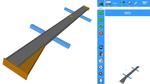 Die IRPS-Software erkennt den Doppel- T-Träger (grau) und die nun mit ihm zu verschweißenden Bauteile (orange).