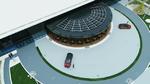 Parkgebühren am Nissan Pavillon in Japan mit Strom bezahlen