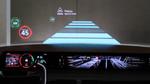 OLED-Prototyp für große Armaturenbretter und transparente Displays von LG.