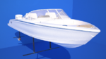 Das vom schwedischen Technologieunternehmen Candela entwickelte Elektroboot Candela Seven hat eine Länge von 7,7 Metern und eine Breite von 2,4 Metern.