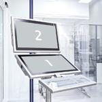 Dual-Display-Lösung mit dem Trolley Light Duplex zur Anzeige von einer Software je Bildschirm.