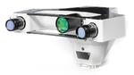 Komplettes 3D-SWIR-Sensorsystem. Oben in der Mitte ist das Projektionsobjektiv der GOBO-Beleuchtung erkennbar