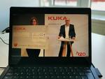 CEO Peter Mohnen gab den Gewinner des Kuka Innovation Awards 2020 in einem Livestream bekannt.
