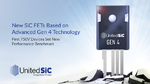UnitedSiC stellt vierte Generation an SiC-Transistoren vor