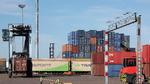 Blick auf Container am HaminaKotka