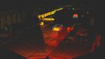Per LiDAR-Sensor ermittelte Punktewolke, die eine Straßenszene mit Autos im städtischen Umfeld zeigt....