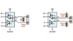 Schaltung des RS-485-Tranceivers ISL32452 für einen Busknoten mit Blitzschutz
