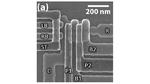 Mikroskopaufnahme Doppel-Quantenpunkt.
