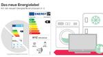 Neue Effizienzlabel für ausgewählte Haushaltsgeräte ab März