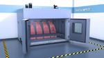 Schwallwasserkammer zur Belastungsprüfung für Fahrzeugkomponenten