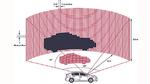 Lidar-System mit 32 vertikalen Kanälen, das seine Umgebung horizontal mit einer Winkelauflösung von 1° erfasst
