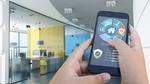 3D-Darstellung einer von einer Automatisierungs-App gesteuerten Büroinnenarchitektur.