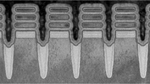 Eine Reihe von 2-nm-Transistoren.
