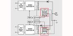 Vereinfachte Darstellung einer Stromversorgungsarchitektur mit gleichmäßiger Stromaufteilung