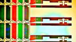 Zu sehen ist die Detailaufnahme mehrerer Subpixel in einem Display mit geschädigten Farbfiltern.