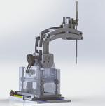 Der vom WPI entwickelte MRT-Operationsroboter arbeitet dank der Piezoantriebe auch unter Einfluss des mehrere Tesla starken Magnetfeldes störungsfrei.