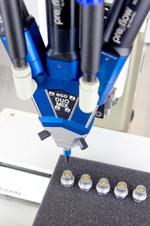 Anwendungsbeispiel: Verguss von Miniatur-Steckverbindern der Firma ODU