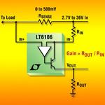 Kostengünstiger 36V-Strommessverstärker