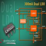 Low-Dropout-Regler mit zwei 300 mA-Ausgängen